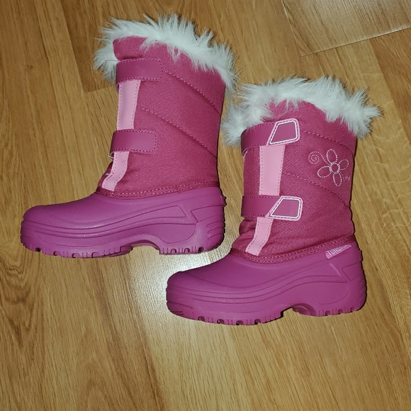 girls pink boots size 13